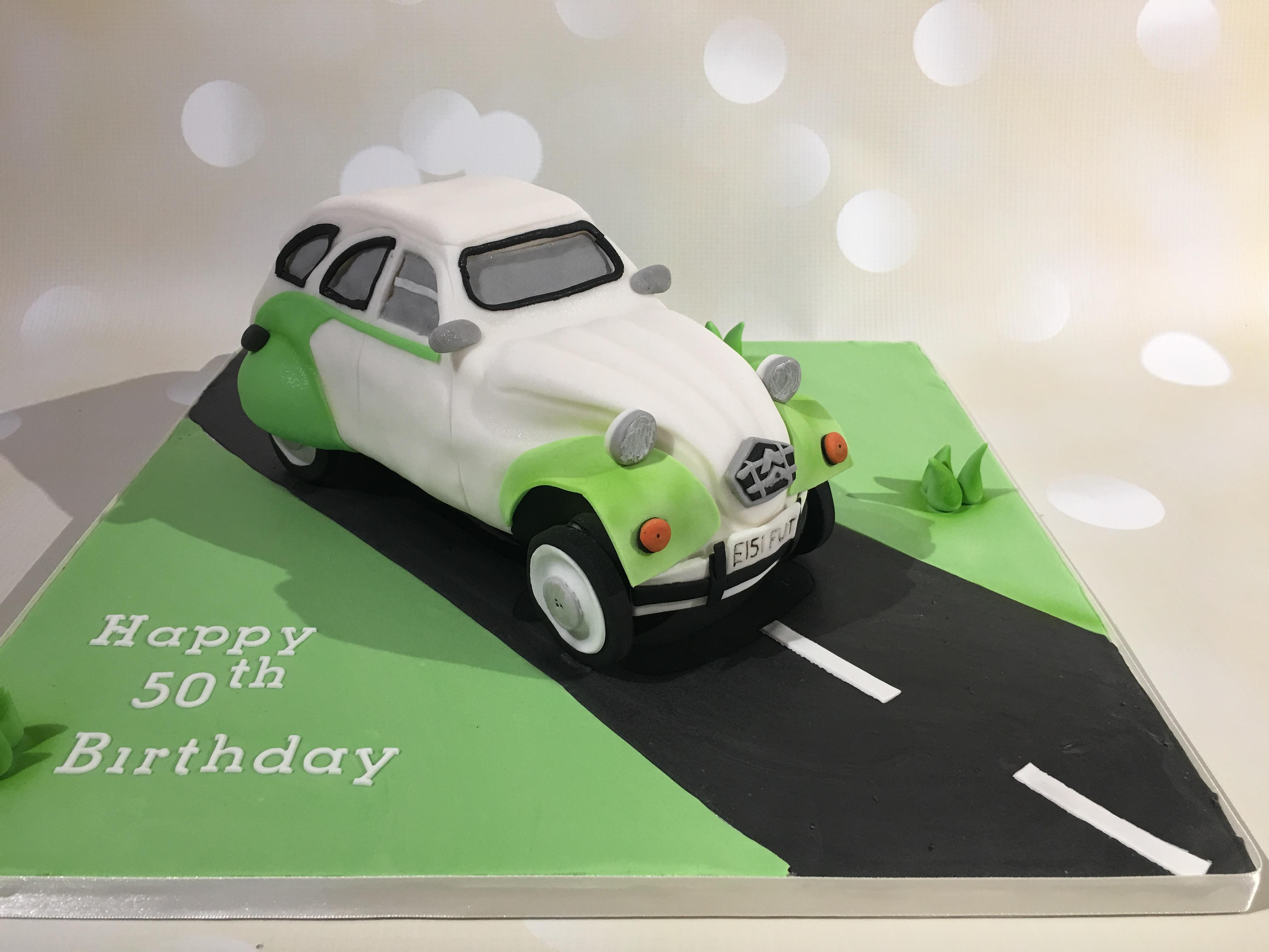 2 CV car cake