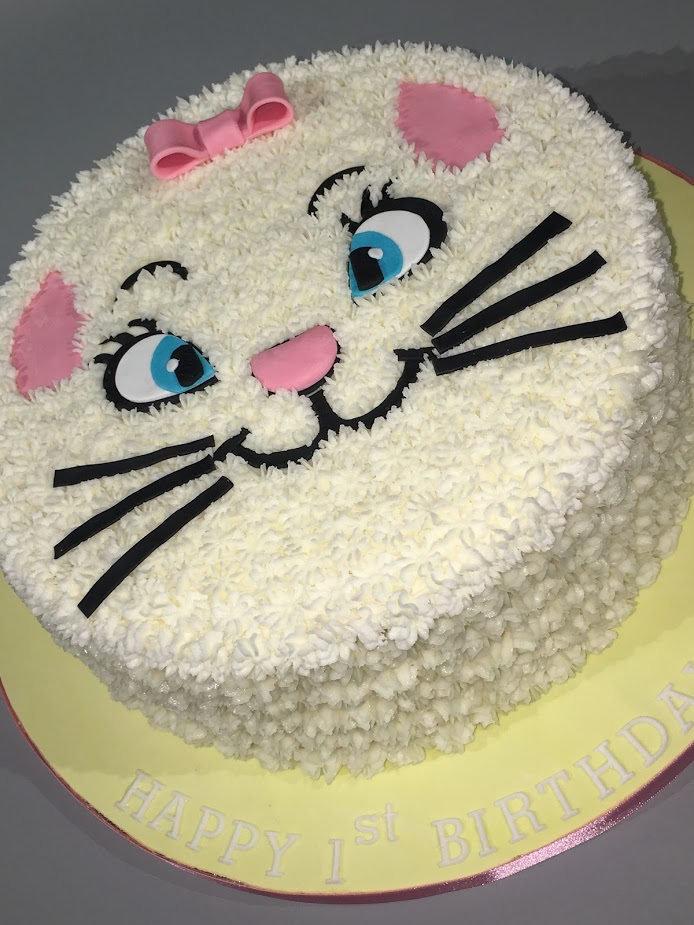 1st birthday Cat cake