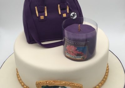 Bag and Candle cake